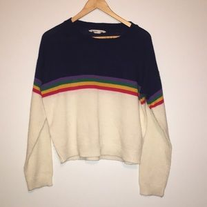 Bluenotes Rainbow Sweater XL